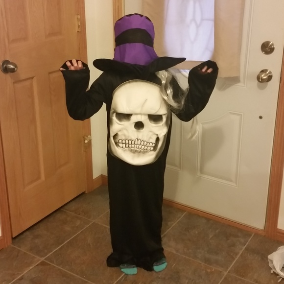 Costumes Kids Large Mad Hatter Skeleton Costume Poshmark